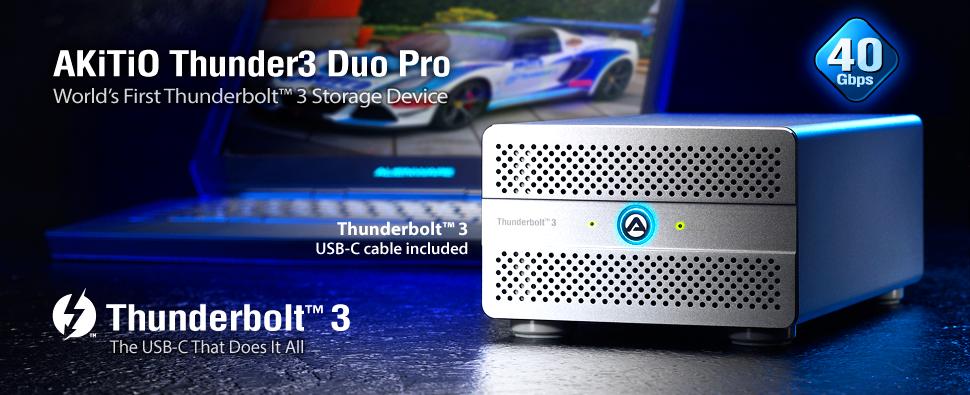 AKiTiO Thunder3 Duo Pro