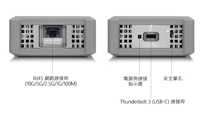akitio thunder3 10g adapter detailed view