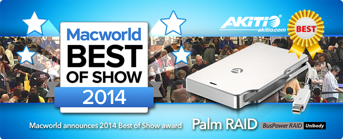 AKiTiO Macworld 2014 Best-awards-690